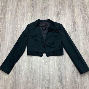 BCBG cropped tuxedo blazer
